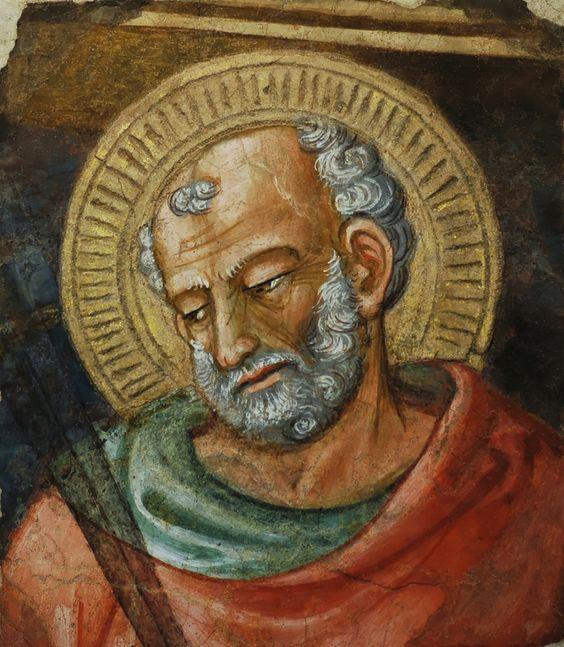 San Judas Tadeo, fragmento de un fresco realizado por Bicci di Lorenzo (1373–1452). Museo dell'Opera del Duomo (Florencia)