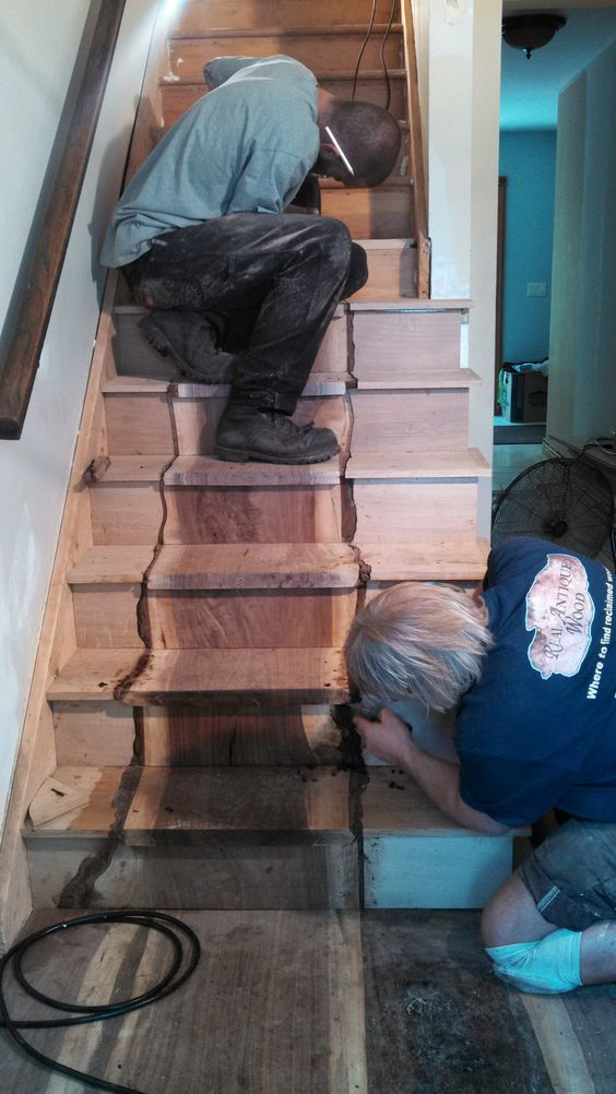 Best Live Edge Slabs Stair Treads And A Hurricane On Pinterest 400 x 300