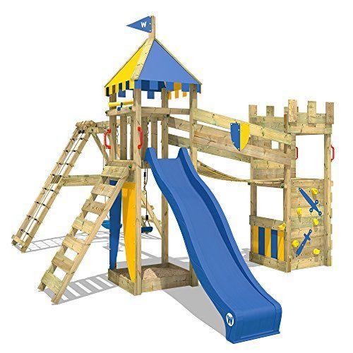 Columpio y Juguete para jard/ín Ideal para ni/ños y ni/ñas Tobog/án Garden tobog/án Infantil para Jardin Parques e Interiores Azul