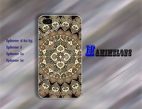Design pattern antique flowers iPhone Case   iPhone by hamimelons, $7.99