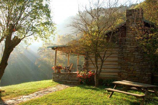 Photo the morning sun streams down on bare farm cabin for Cabins in lexington va