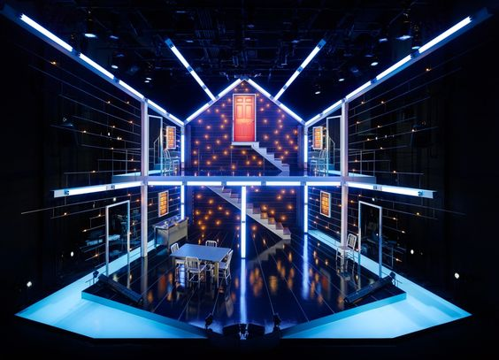 """""""Next To Normal"""" Brian C. Mehring (Set/Lights) I find Next to normal such an amazingly light piece bc of the new technologies and the distinct lines and colors used to reflect mood and to create the house and layers of the house"""