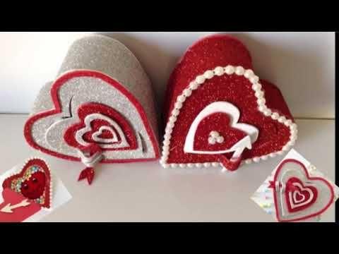 أفكار هدايا بالفوم هدايا عيد الحب صنع علب هدايا Youtube Napkin Rings Home Decor Decor