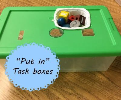 "I have quite a few students who need level 1 task boxes this year. My go-to for many of these kiddos are ""put-in"" tasks because it allows th..."