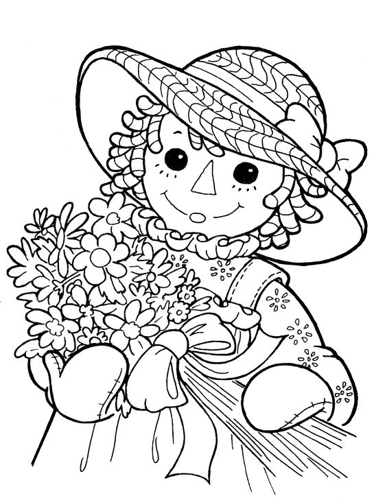 Raggedy ann coloring pages and coloring on pinterest for Raggedy ann and andy coloring pages