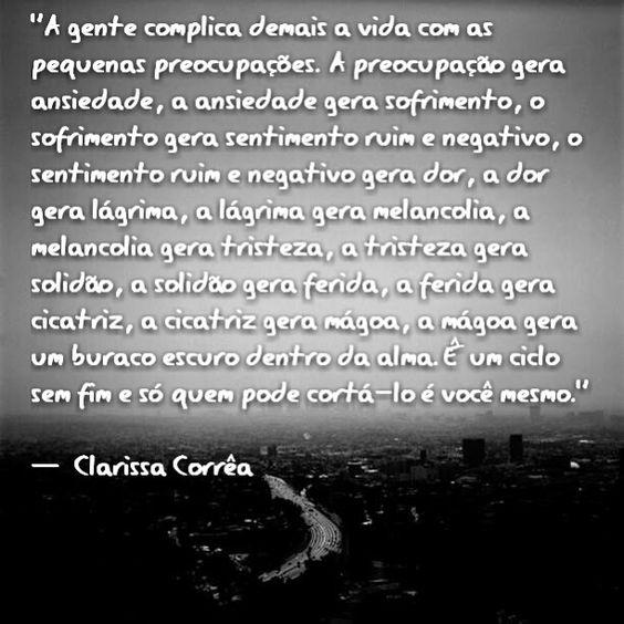 Clarissa Corrêa - pensamentos