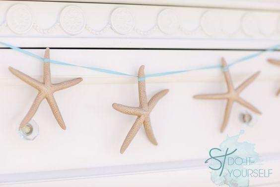 #DIY ~ darling gold starfish bunting banner... #somethingturquoise
