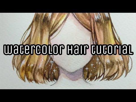 How To Color Hair With Watercolors Watercolor Hair Tutorial