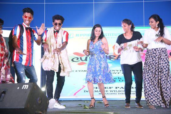 Actress Gayathri at CULTURAL'S 2K20 held at  Jeppiaar Institute of Technology, Sriperumbudur