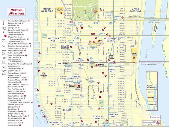 midtownmanhattansightseeingtripplannernewyorktoptourist – Tourist Nyc Map