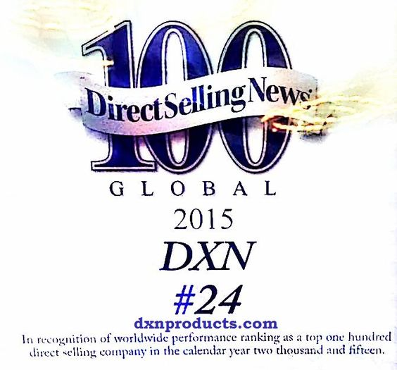 DXN 24th in 2016 in Direct Selling News 100 list
