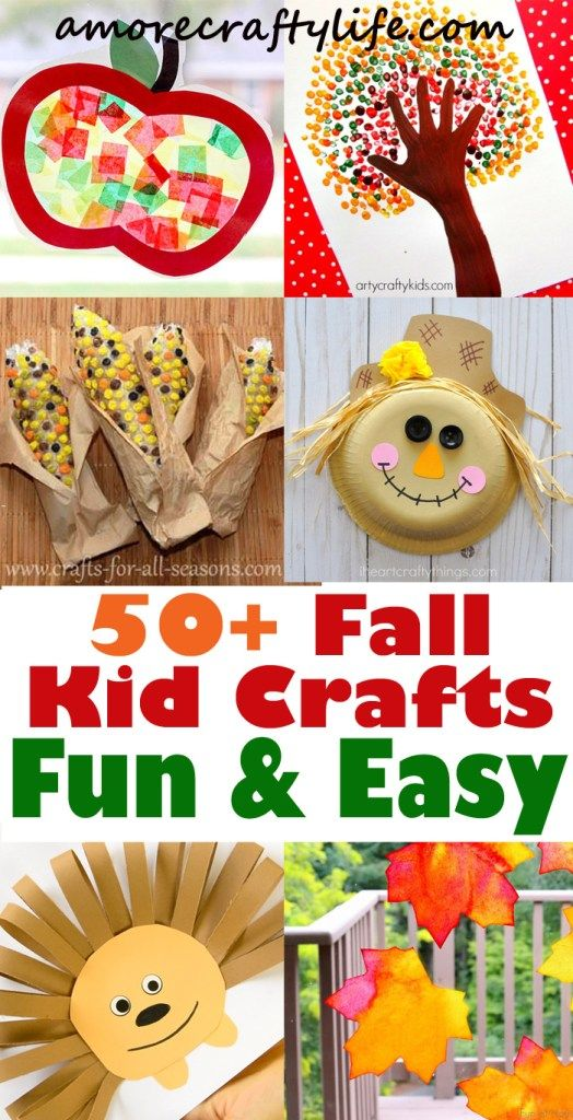 Fall Kid Crafts Easy Fun Autumn Crafts A More Crafty