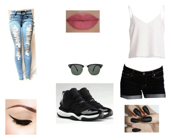 Untitled #43 by esquiveljoely on Polyvore featuring polyvore, fashion, style, Dex, Ray-Ban, She's So and NIKE