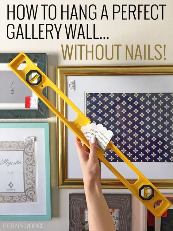 How to hang a perfect gallery wall without nails nail How to hang a heavy picture frame without nails