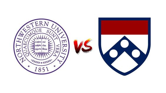 COMPARE NORTHWESTERN UNIVERSITY vs. UNIVERSITY OF PENNSYLVANIA