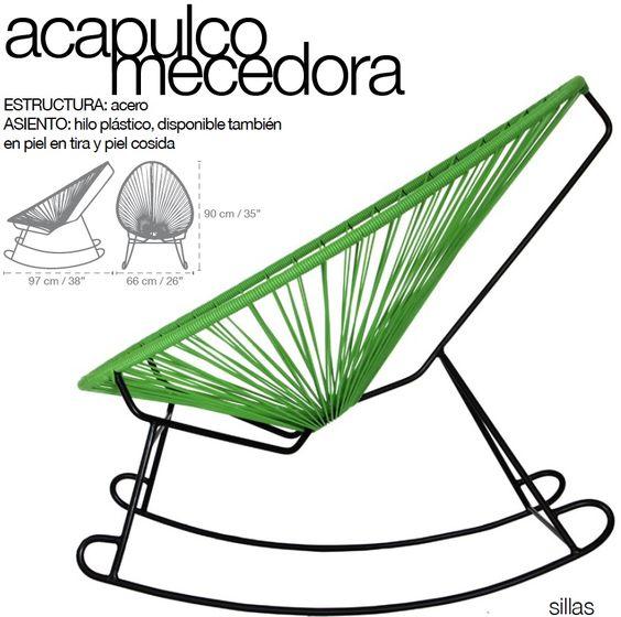 Silla acapulco home design pinterest - Sillas de patio ...