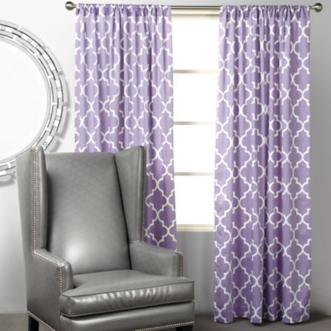 I love these for Violettes room  Mimosa Panels - Orchid from Z Gallerie