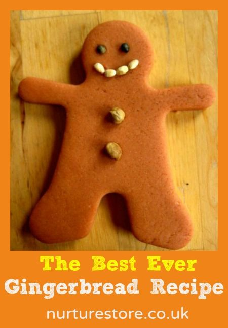 gingerbread recipe A good recipe to use with children – the dough can cope with lots of handling by the children and the finished biscuits will still turn out OK.