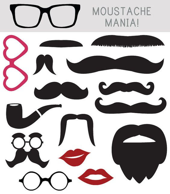 Photo Booth Props Moustache And Clip Art On Pinterest