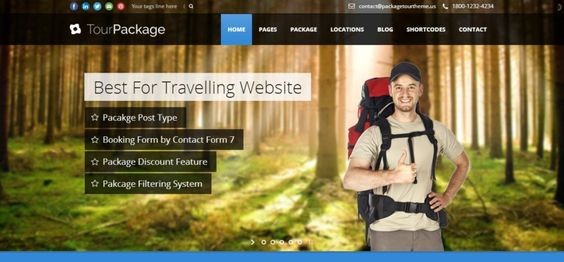 Travel Package WordPress Theme