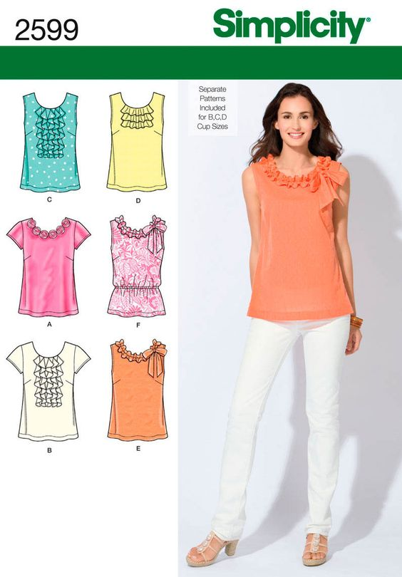 simplicity patterns blouse ruffle - Buscar con Google: