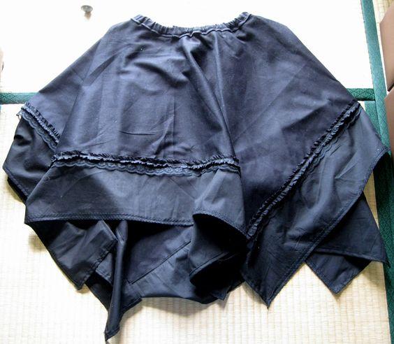 Huge black skirt. Handkerchief hem, no lining.