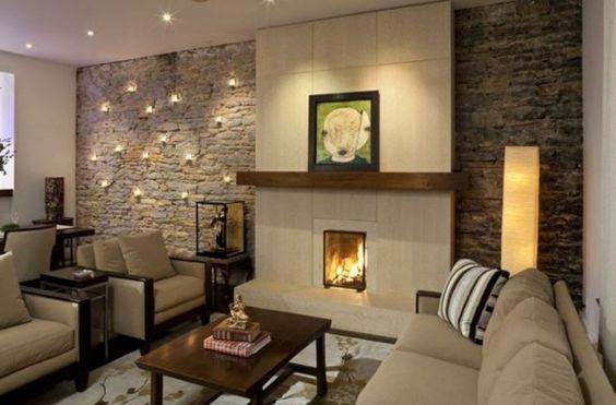 deko ideen furs wohnzimmer deko steinwand wohnzimmer and - wohnzimmer mit steinwand