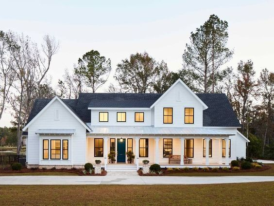 Top 10 Farmhouse Exteriors You Need To See 10 Country Inspired Houses To Fuel Your Home Desi House Designs Exterior House Plans Farmhouse Dream House Exterior