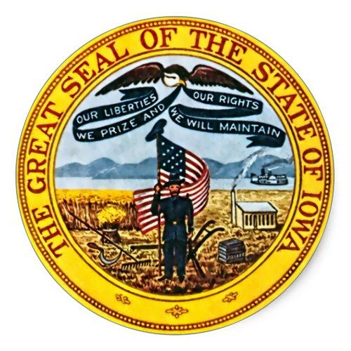 Iowa State Seal Zazzle Com Student Loan Forgiveness Iowa