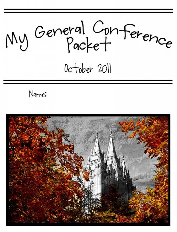 Cute General Conference packets for all ages! Love it!