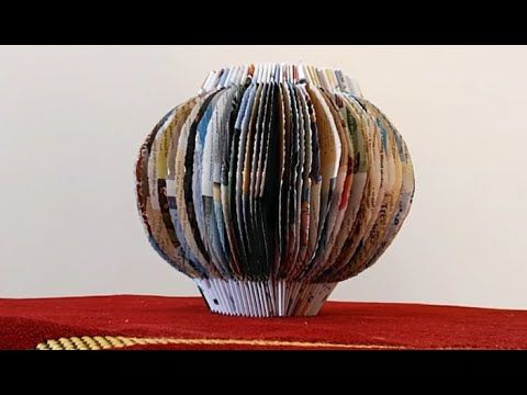 1924 An Amazing Way To Make A Paper Lantern Of Old Papers And Books Youtube Old Paper Paper Lanterns Diy Crafts For Gifts