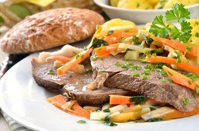 Hier finden Sie das Rezept für einen klassisch österreichischen Tafelspitz welcher im Dampfgarer zubereitet wird.