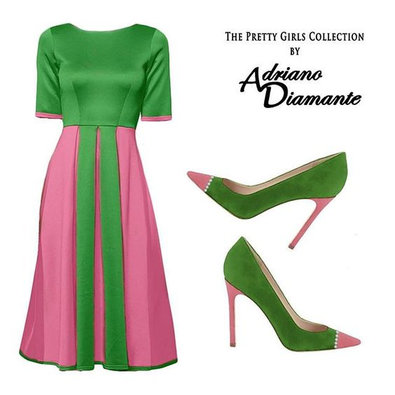 Pink and green apparel  Alpha Kappa Alpha  Pinterest  Green ...