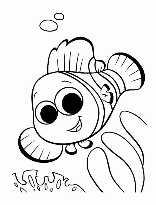 Clown Fish Coloring Page Best Of Clown Fish Coloring Page Book For Kids Disney Coloring Pages Nemo Coloring Pages Fish Coloring Page