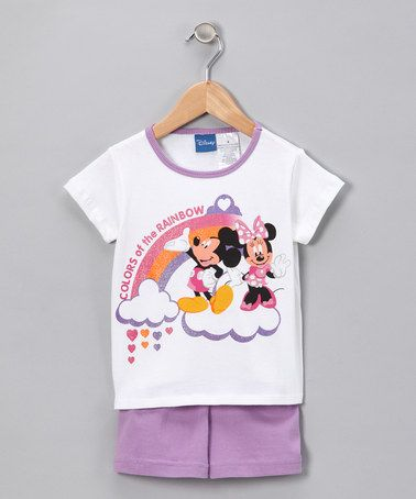 Disney Lavender Mickey Mouse Tee & Shorts - Girls   Minnie (sara's other fav)