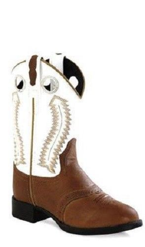Old West Cowboy Boots Western Round 10 Child Tan White 1903 49 99 Oldwest Boots Boys Cowboy Boots Leather Cowboy Boots