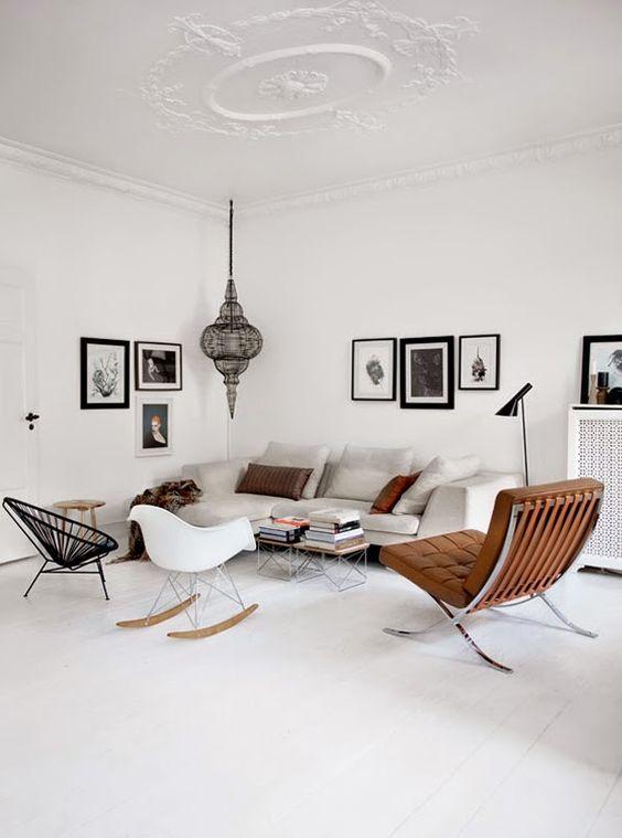 ChicDecó: | Minimalist Danish home in black and white