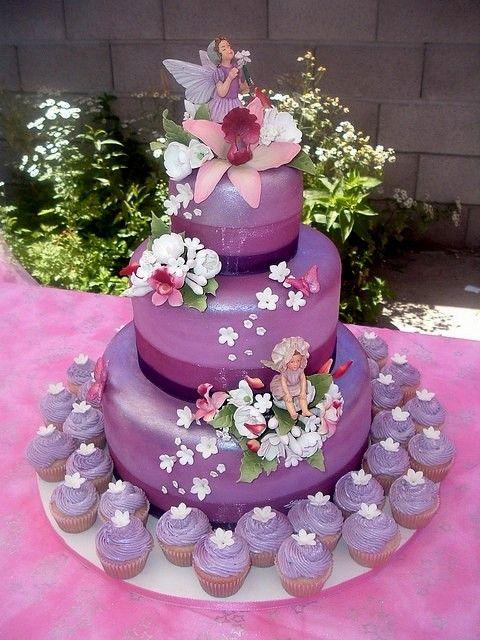 Cake Art Quito : purple fairy cake - MCB statuettes ? Pinteres?
