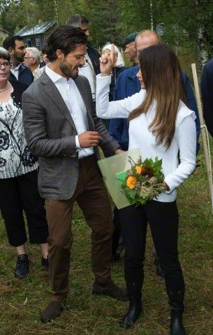 Royal Family Around the World: Swedish HRH Prince Carl Phillip and HRH Princess Sofia vistis Värmland in the western part of central Sweden, August 26 2015
