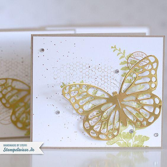Kleines Grußkärtchen mit Schmetterlingsgruß (via Bloglovin.com )