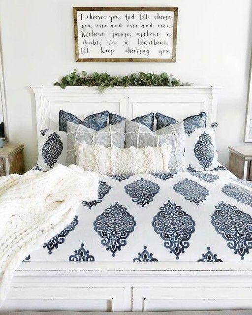 Asher Medallion Organic Percale Duvet Cover Amp Shams Gray Home Decor Bedroom Home Decor Bedroom Decor