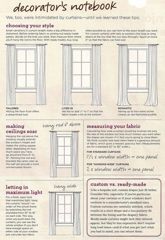 curtain tips by tips pinterest curtain. Black Bedroom Furniture Sets. Home Design Ideas
