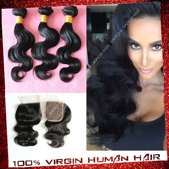 Find More Cabelo Humano Information about 6a cabelo virgem brasileiras com fechamento 3 trama e cabelo pcs 1pc renda fechamento com feixes preto natural não transformados cabelo humano,High Quality Cabelo Humano from Xuchang Ishow Virgin Hair  Co.,Ltd on Aliexpress.com