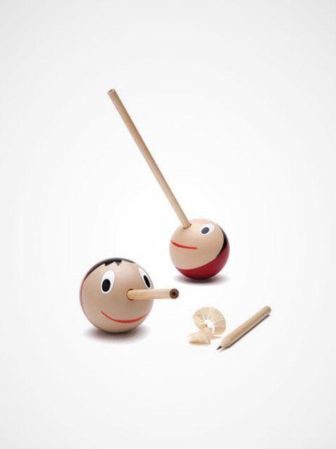 pencil sharpener: haha...more honest over time? #Pencil_Sharpener #Pinocchio_Pencil_Sharpener