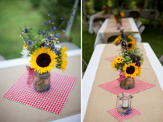 Red Gingham Centerpieces : Pinterest the world s catalog of ideas
