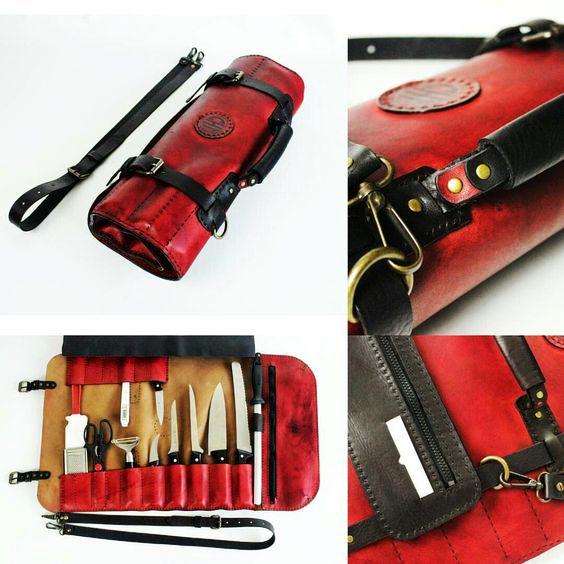Chef S Knife Leather Roll Leather Roll Leather Tool Roll Knife Bag