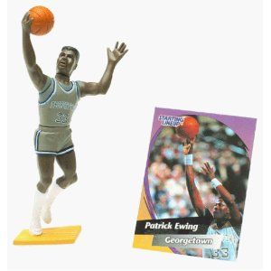 Click on the image for more details! - PATRICK EWING / GEORGETOWN UNIVERSITY HOYAS 1998 Edition College Basketball Starting Lineup & Exclusive Collector Trading Card * NBA * (Toy)