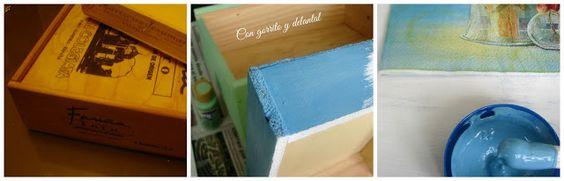 Caja decorada para botones y madejas ¡de Galleta!