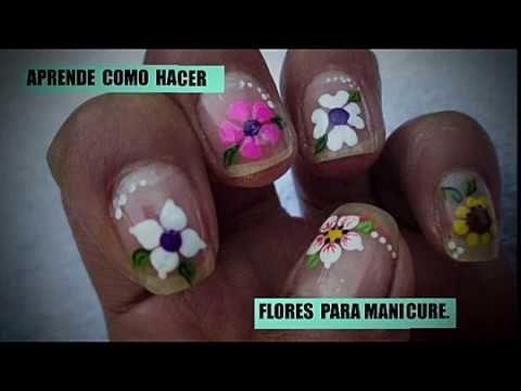 Aprende Como Hacer Flores Para Decorar Tus Uñas Youtube Uñas De Los Pies Bonitas Como Hacer Flores Manicura Flores