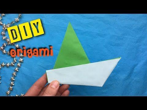 Papieren Bootje Vouwen Makkelijk Vouwen Met Papier Origami Easy Vouwen Met Vouwblaadjes Basteln Mit Papier Origami Vouwen Van Papier Papier